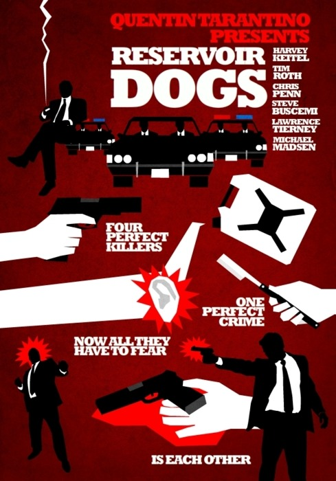 60 Favorite films of all time. #3-Reservoir Dogs. Directed by Quentin Tarantino. Writen by Quentin Tarantino. Starring:Harvey Keitel, Tim Roth, Michael Madsen, Chris Penn, Quentin Tarantino, Eddie Bunker, Lawrence Tierney, Steve Buscemi, & Steven Wright.  Released:1992.