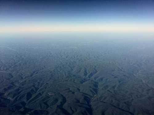 18 Sept 2011.  Allegheny National Forest (view from airplane.)  Pennsylvania.
