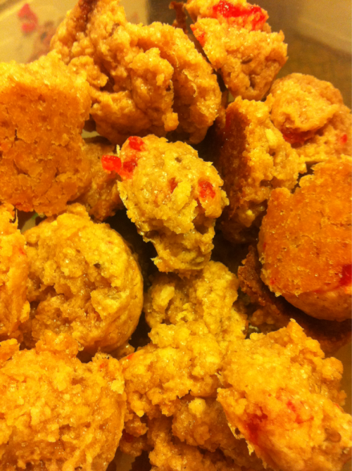 thepantrypocket:  And some Swedish Fish vegan cookies for my friend's surprise birthday party because they're her favorite candy and I like to experiment.