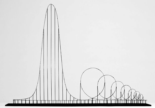 "skinned-teen:  The Euthanasia Coaster is a concept for a steel roller coaster designed to kill its passengers. In 2010, it was designed and made into a scale model by Julijonas Urbonas, a PhD candidate at the Royal College of Art in London. Urbonas, who has worked at an amusement park, stated that the goal of his concept roller coaster is to take lives ""with elegance and euphoria"". It is a ride to the death. The seven loops or 'inversions' put the human body under such stress that it causes the brain to be starved of oxygen, as the heart simply cannot push blood against the enormous g-forces. Even if it kills you, it is designed to still be a fun death. An honourable thought, if rather macabre."