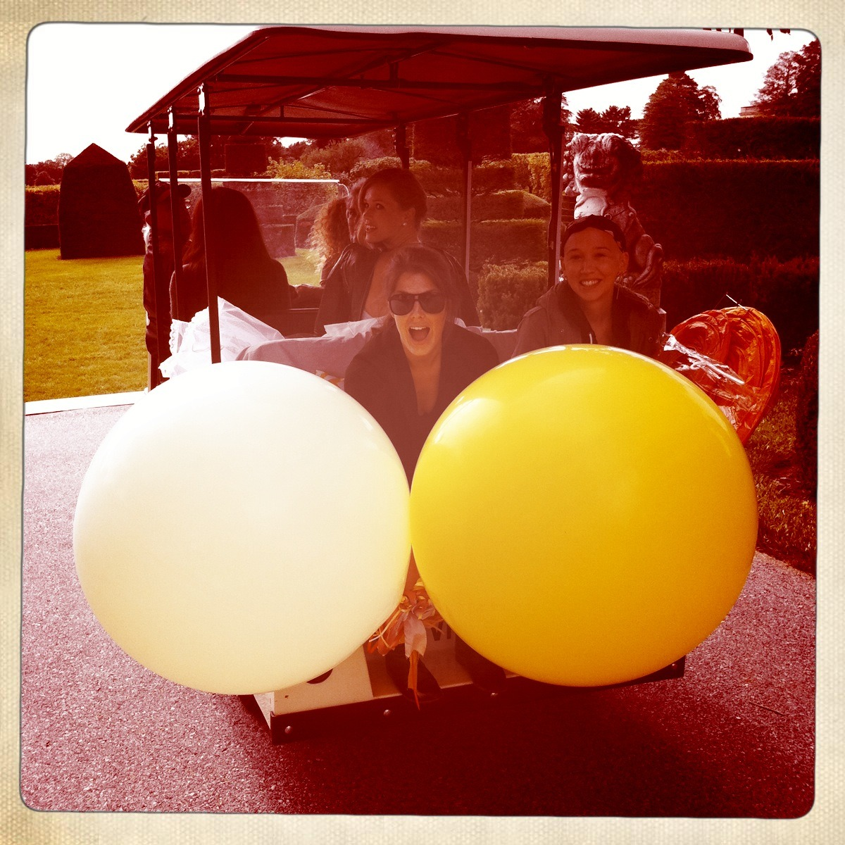 gotta love balloons and golf carts