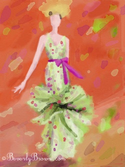 iPad sketch - NY Fashion Week Spring 2012 - Badgley Mischka collection