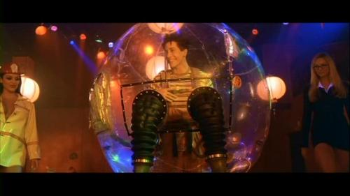 Movie: Bubble Boy [2001]  Directed By: Blair Hayes  Movie Poster: Bubble Boy  Wrestler(s) captured: Midajah (as Red Hot Mud Wrestler), Stacy Keibler (as Working Girl Mud Wrestler)