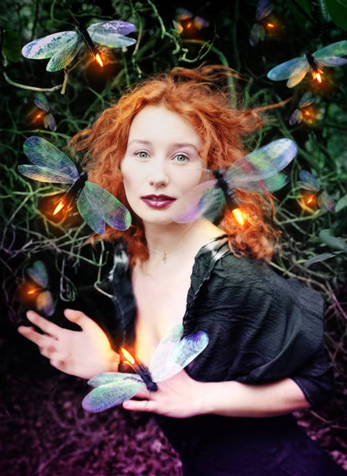 "birdsong27:  ""Tori Amos: Her Secret Garden"" Rolling Stone, 1998. Photograph by David LaChapelle. (Alfred Eisenstaedt best cover of the year photography award, 1999)"