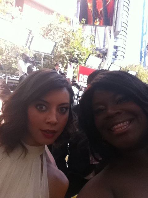 fuckyeahparksandrec:  Tweeted by Rhetta from the Emmys red carpet