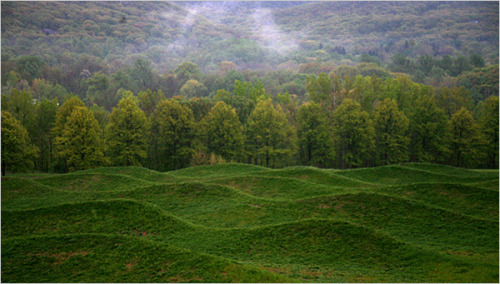 Maya Lin at Storm King, photo from NYtimes.com