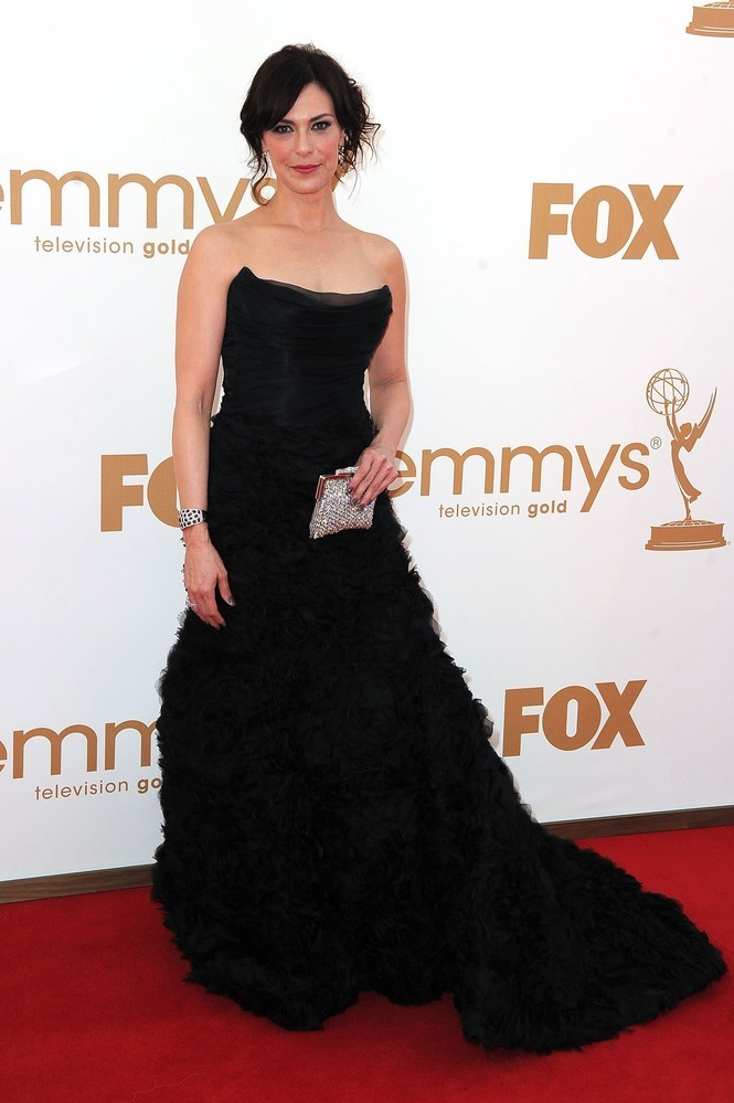 Michelle Forbes at the Emmys tonight Fierce queen!  So proud to see her there tonight!  She better win (her or Margo Martindale.)