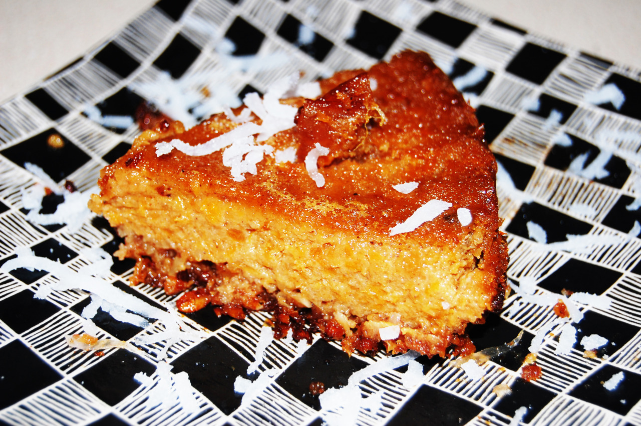 Sweet Potato Pie with Granola Crust & Coconut