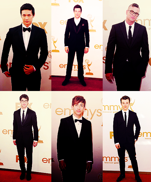faboner:   Glee Boys at the Emmys