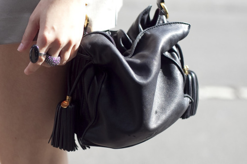 London Fashion Week: Barbara Palvin's ring and bags