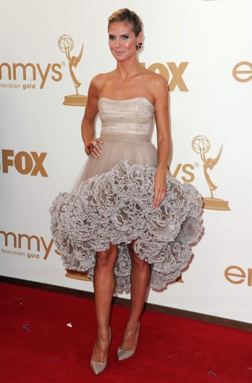 Heidi Klum shows some Project Runway love in Christian Siriano.