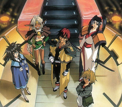 thatninjaninja:  hellyeahscifi:  Outlaw Star crew   great show !  I loved that show. Have it on DVD.