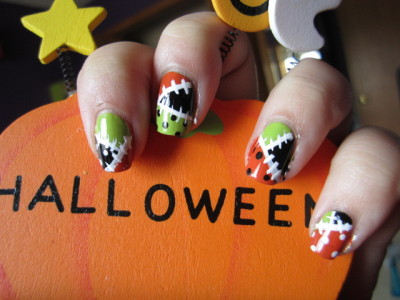 "ghostieboo:  from last october…my ""franken nails"""