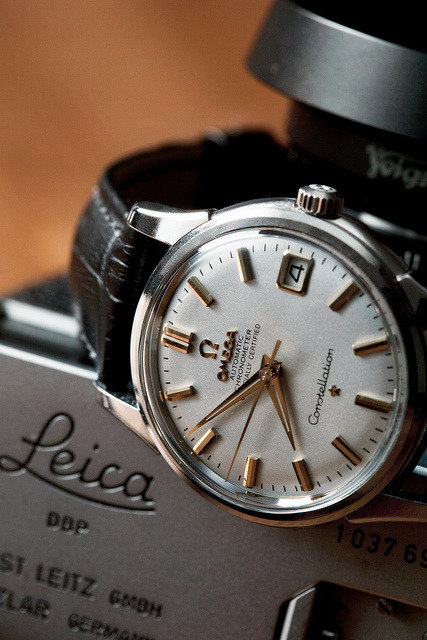 Omega Constellation & Leica  Shout out to:secondsandminutes