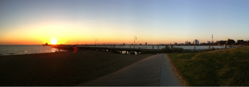 Sunset, St Kilda Pier.    End of a great birthday weekend.