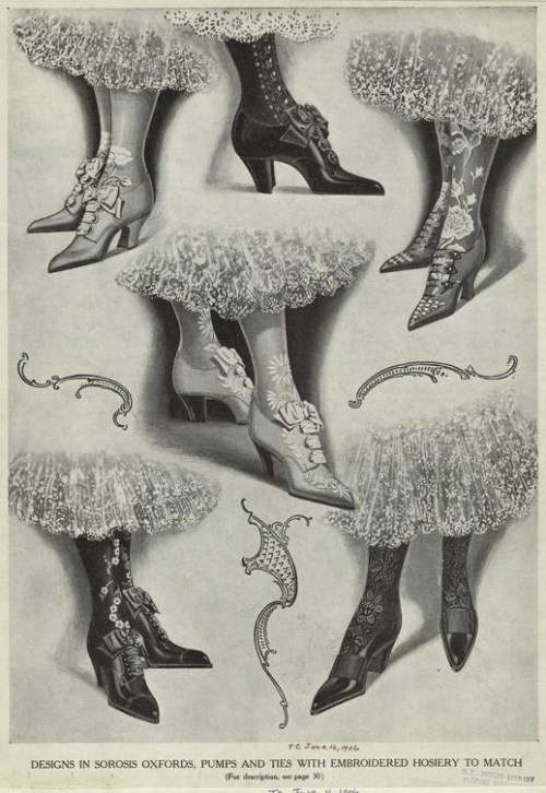 Shoe and hosiery advertisement, 1906