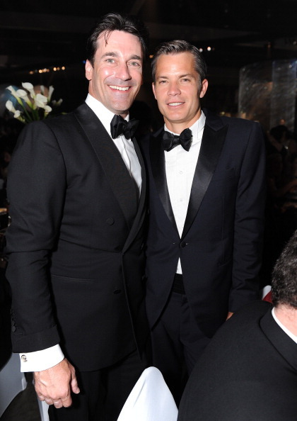 Jon Hamm & Timothy Olyphant - Emmy after-party, September 18th 2011 This is the most handsome photo you will ever see! ps.. KISS HIM! HARD! ON THE MOUTH!
