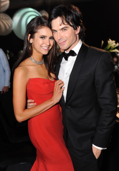 Nina Dobrev & Ian Somerhalder - Emmy after-party, September 18th 2011 Crooked smile, crooked tie. So dashing!