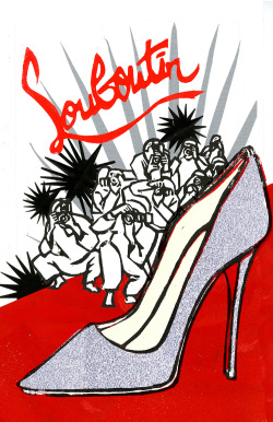 Louboutins rule the red carpet lllustration by Lis Sartori