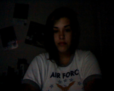 "in the dark. webcam photo.Been so obsessed with Gossip Girl, that when I'm home, it's really all I do.I did watch 3 Ed Westwick movies this weekend…but only liked Chalet Girl; S. Darko and 100 Feet were terrible, but he looked hot.I baked sugar cookies from scratch today. Which was awesome. Made me feel real. I also cleaned my place finally.I've been having a lot of like…space out, almost in tears moments this weekend. I turn 25 on Thursday and I'm just not at all where I thought I'd be…like Fireworks said,""Thinking back, on thinking forward, I always thought I'd be further than I ever am."" Oh well. I have a quiz and a big test this week. A lecture date with Matt and Jenny tomorrow. Study group Tuesday after class…Management quiz Wednesday and Econ test Thursday(awesome, it got moved TO my birthday) and hopefully I can convince my lovely classmates(minus Jenny who isn't 21 yet) that they should come out for drinks after the test. I deserve it, after all, I baked cookies for study group because I'm ridiculously sweet and love them!"