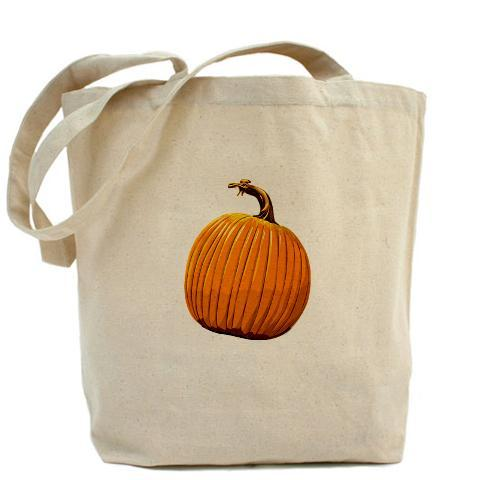 Pumpkin canvas tote. Our 100% cotton canvas tote bags have plenty of room to carry everything  you need when you are on the go. They include a bottom gusset and extra  long handles for easy carrying.