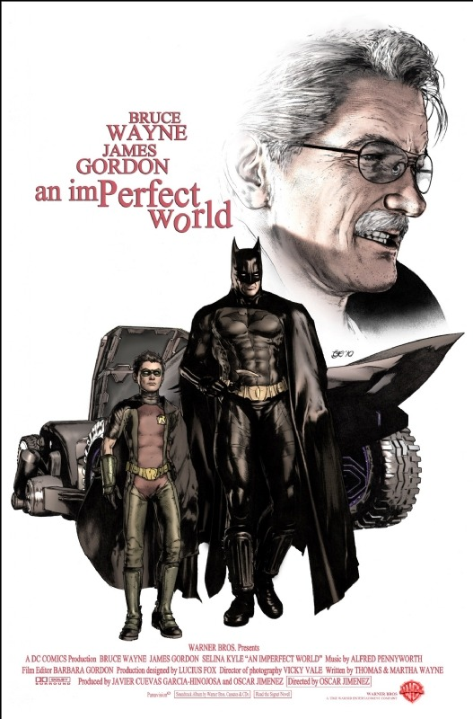 actioncomics:  Oscar Jiménez´s Homage to Clint Eastwood and Batman & Robin. An Imperfect world film