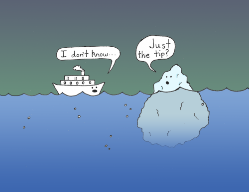 curiousbrew:  Here we enter a conversation between a boat and an iceberg.  by. Jesse Fernandez