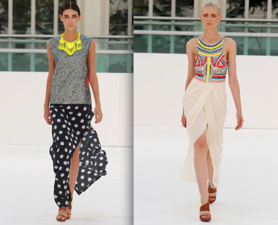 runway. sass and bide ss12. london fashion week.