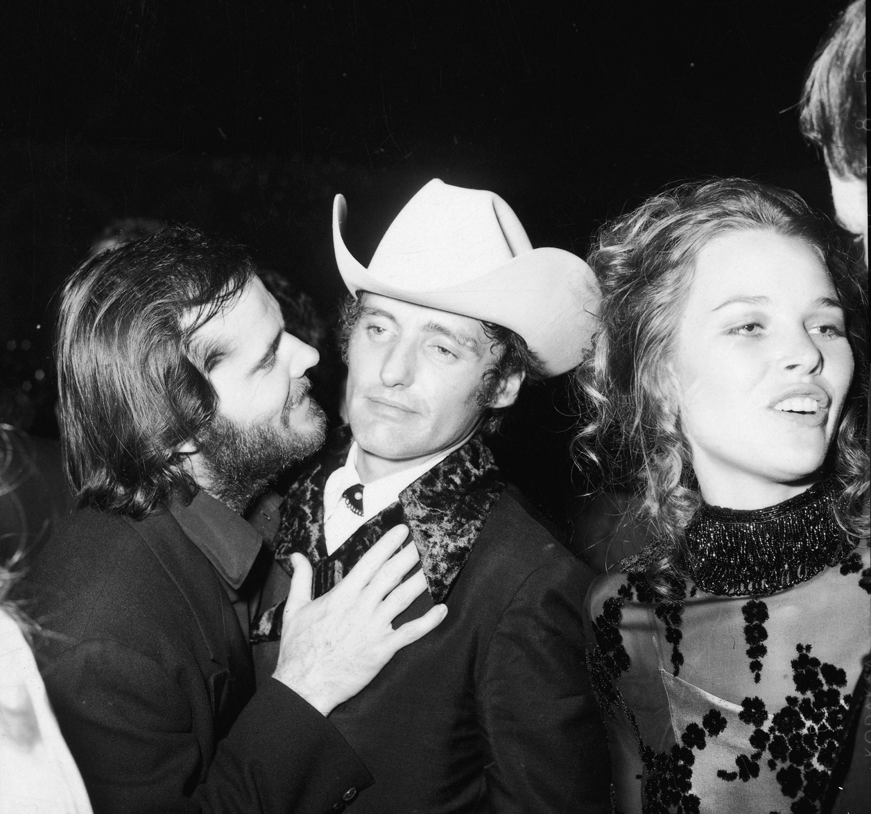 Jack Nicholson, Dennis Hopper and Michelle Phillips