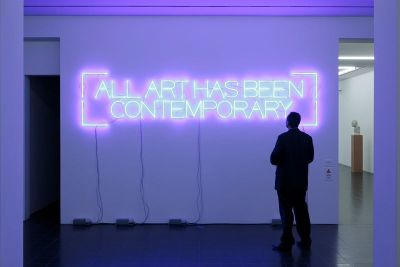 """all art has been contemporary"" by maurizio nannucci"