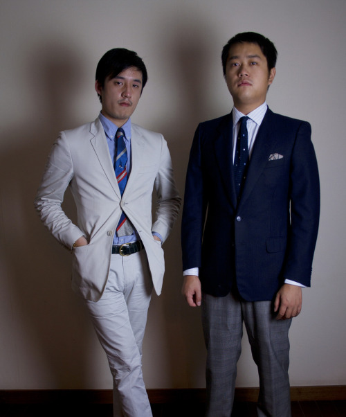 Jeffrey Ying and me Corneliani sportcoatKent Wang shirtKent Wang knit tieKent Wang silk pocket squareThick as Thieves trousers