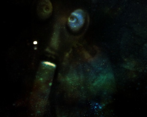 me smoking in space with my roommate's gasmask
