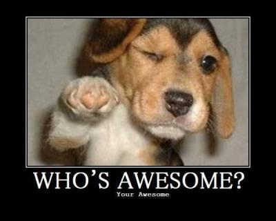 hey you there,YOUR AWESOME..