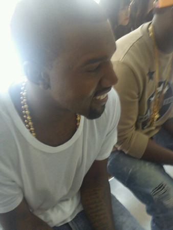 "Kanye West on the front row at Christopher Kane's S/S'12 show Me: ""Hi Kanye, I'm from Grazia Daily and we're all so excited that you might be showing at Paris Fashion Week, and.."" KW: ""I don't do interviews"" Me: ""Oh. Well, maybe I could just take your photo then?"" KW: ""Okay, but I'm not going to POSE or anything…"" www.graziadaily.co.uk"