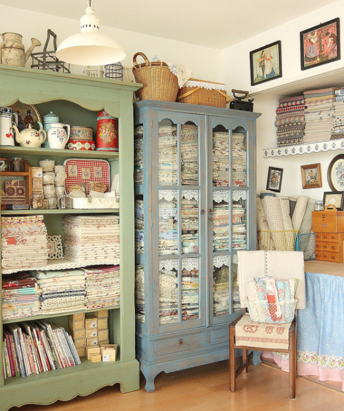 craft room by cottonblue on Flickr.