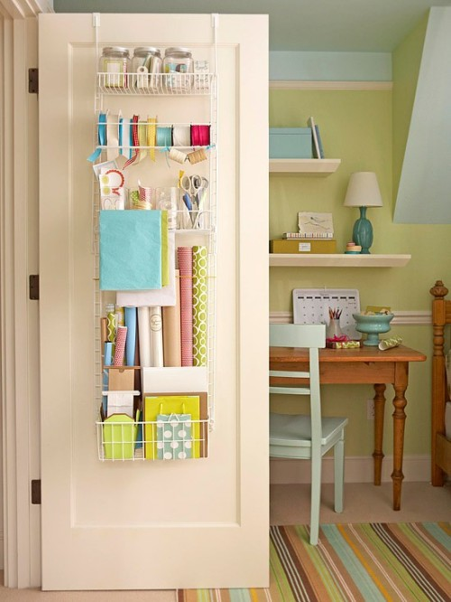 cute wrapping storage (via bhg)