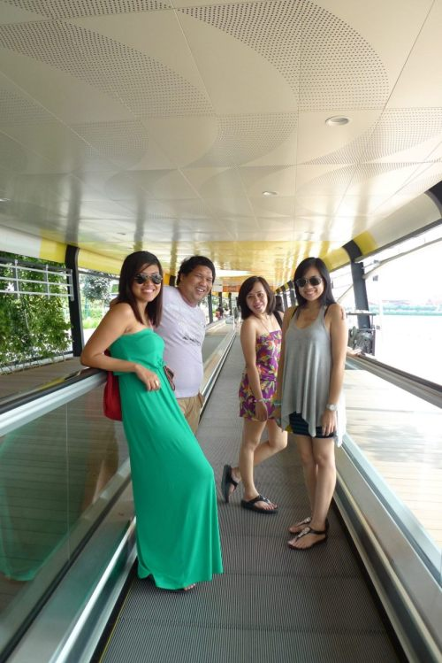 Moving walkway a.k.a. Walkalator. LOL