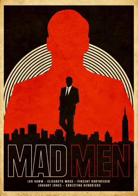 minimalmovieposters:  Mad Men by Needle Design