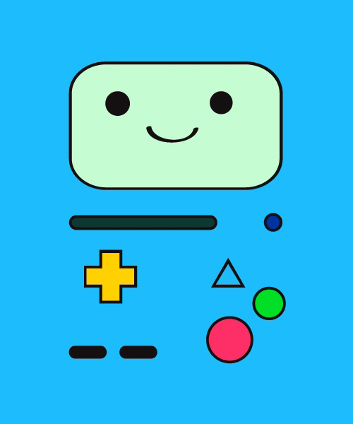 justinrampage:  Jake and Finn's living video game system Beemo has come to life in Tumblr artist Jessica Laroche's new shirt design. On sale now at Threadless. B-MO! by Jessica Laroche (Tumblr) (Facebook) (Twitter)