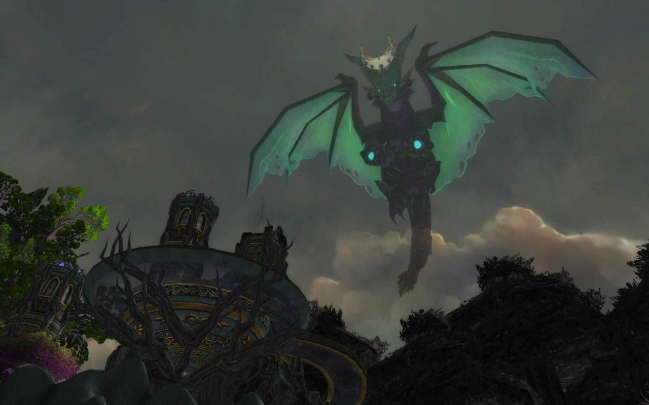 The Dragon Soul (New Raid) Screenshot of Ysera in dragon form. :o