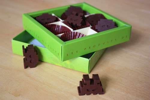 Space invader chocolates