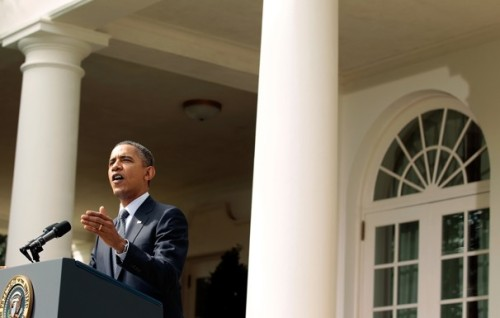 "President Obama announced his detailed proposal for deficit reduction in a spirited speech this morning. The President ignored warning from Republicans against proposing tax increases Monday  and rolled out a plan to reduce the deficit consisting of a mix of  spending cuts and revenue raisers in a combative speech designed to  persuade the public to embrace a balanced approach to reigning in the deficit and bringing down the  nation's debt. In remarks in the White House Rose Garden, the President offered up the ""Buffet Rule,"" a revenue gathering measure which would prohibit millionaires from paying a lower tax rate than middle-class Americans. ""This plan eliminates tax loopholes that primarily go to the largest  business and corporations—tax breaks that small businesses and middle  class Americans don't have to pay,"" Obama said. ""We can't afford these  special lower rates for the wealthy, which by the way, were initially  talked about as temporary measures."" The President has made it clear that he would not call for new taxes to begin until January of 2013, at the earliest, in order to give the economy more time to recover. Obama's plan also leaves Medicare and Social Security off the table. Over the weekend, TNR's Jonathan Cohn wrote that with this plan, the White House is drawing a pretty clear line in the sand: the  spending cuts are not acceptable, the administration says, unless they  are part of a package deal that includes the new revenue. As one senior  administration official put it on Sunday evening, ""We're trying to make  it clear that this isn't a menu you can pick from – you have to do the  revenue with the spending."" ""This is not class warfare. It's math,"" Obama said in his press conference this morning. Hoping to breathe new life into his re-election campaign and restore confidence among his supporters, the President's new deficit reduction plan may be Obama's best challenge to the GOP yet. Courtesy of the Washington Post."