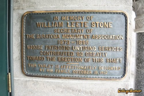 Shaft Erection Plaque When you work for the Monument Association you automatically get your shaft erected.