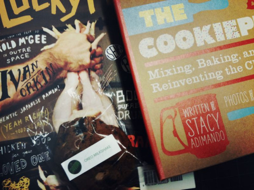 SOME THINGS Lucky Peach magazine, the ramen issue  An Oreo milkshake cookie from The Cravory The Cookiepedia, a new book by one of our editors at Rachael Ray