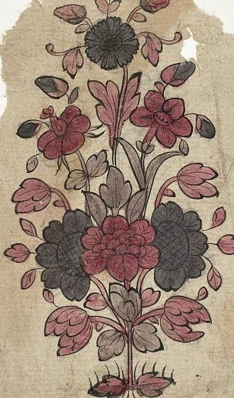 Unknown (India) Floral Design for a Textile 1800
