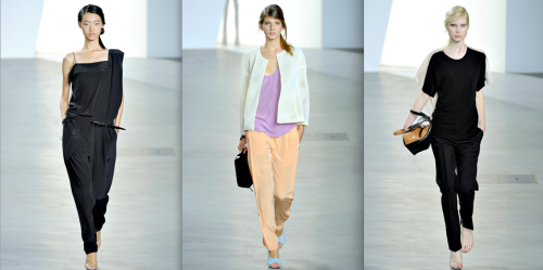 3.1 Phillip Lim RTW SS2012 Even though I loved to look at this collection inspired by fine Italian gelato, it's so not my cup of tea I had to choose two looks of the very rare blacks! But it doesn't keep me from loving Phillip Lim till the end…