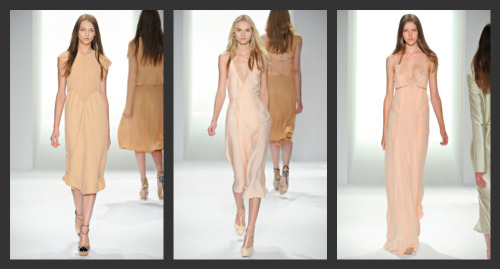 Calvin Klein Spring/Summer 2012. Nude Slip Melted onto Body. (view in high resolution)