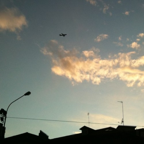 #sky #clouds #plane #takeoff (Taken with instagram)