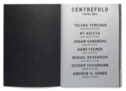 Centrefold Magazine Issue 6 design by Studio Baer