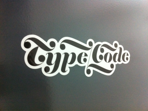 typecode:  Type/Code Stickers just arrived!